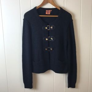 Tory Burch Ross Cardigan with Leather Closures